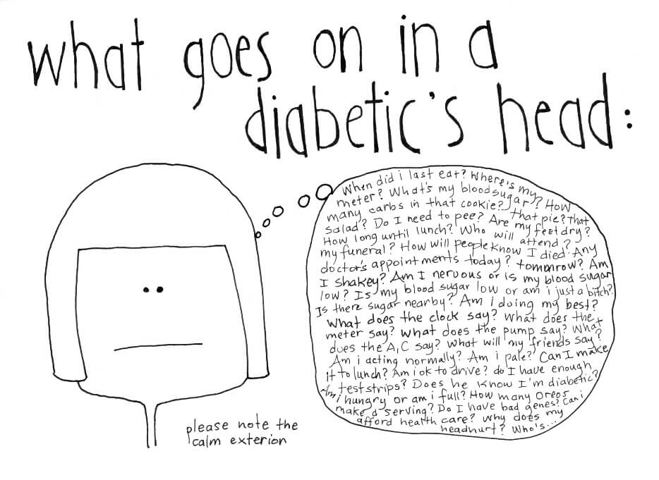 what goes on in a diabetic's head