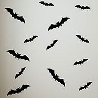 shop now for halloween bat wall decorations - Halloween Bat Decorations