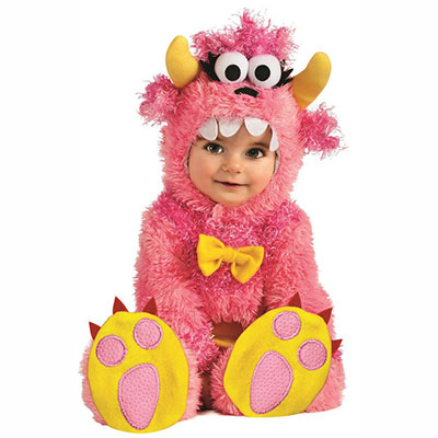 Baby Dressed In Pinky Winky Monster Costume