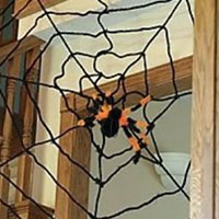 extra large 6 foot halloween spider web