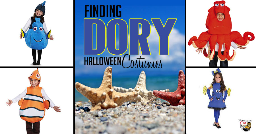 Awesome and adorable Finding Dory costumes for Halloween.