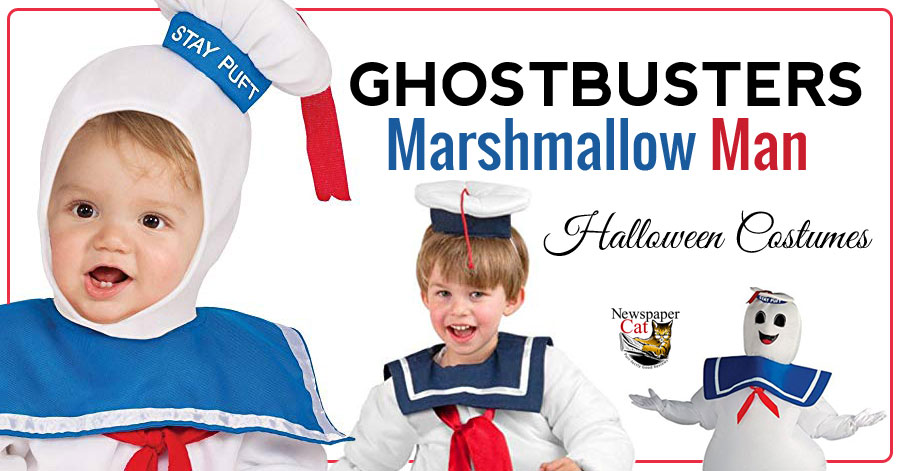 Ghostbusters Marshmallow Man costumes and costume ideas for infants, kids, and adults.