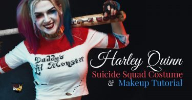 Harley Quinn Suicide Squad Halloween costume and makeup tutorial.
