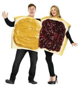 Easy & Cheap Peanut Butter And Jelly Sandwich Halloween Costumes For Couples