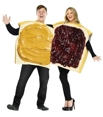 Easy u0026 Cheap Peanut Butter And Jelly Sandwich Halloween Costumes For Couples  sc 1 st  Newspaper Cat & Easy u0026 Cheap Peanut Butter And Jelly Sandwich Halloween Costumes For ...