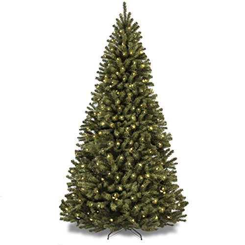 best choice products 75 ft prelit premium spruce hinged artificial christmas tree with clear lights and stand found here im drawn to this one because - Large Artificial Christmas Trees