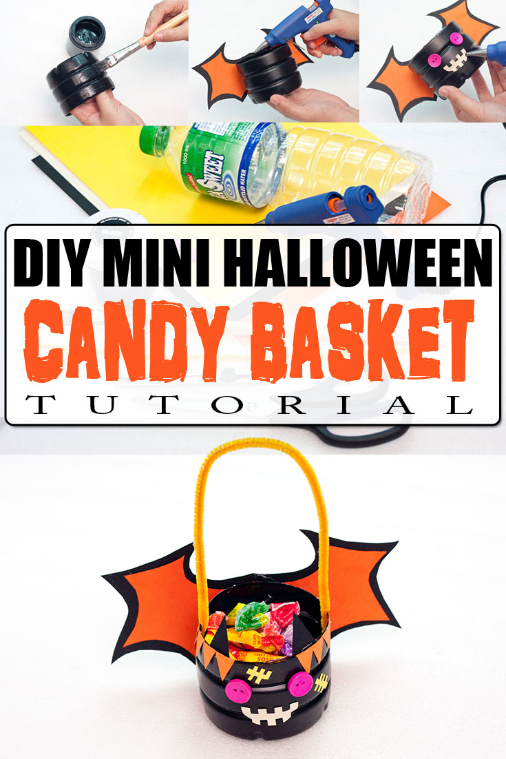 DIY Mini Halloween Candy Basket Tutorial - Trick Or Treat - Basket Ideas - Party Favors & Gift Baskets