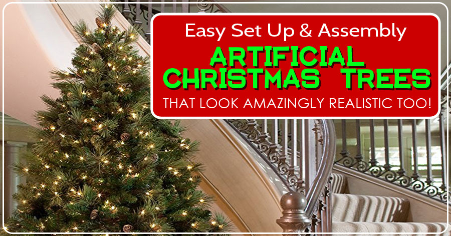 the most realistic and easiest artificial christmas trees to set up and assemble - Christmas Tree Decorating Ensemble Kits