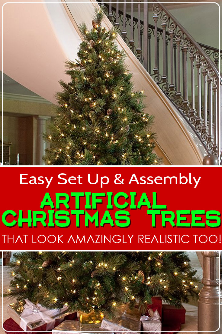 easy to set up and assemble artificial christmas trees that are also amazingly realistic - Christmas Tree Decorating Ensemble Kits
