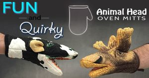 Fun Novelty Animal Head Oven Mitts That Are Cool And Quirky