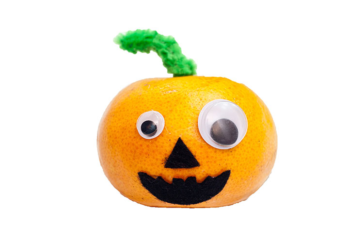 Orange Pumpkin Healthy Halloween Treat For Kids