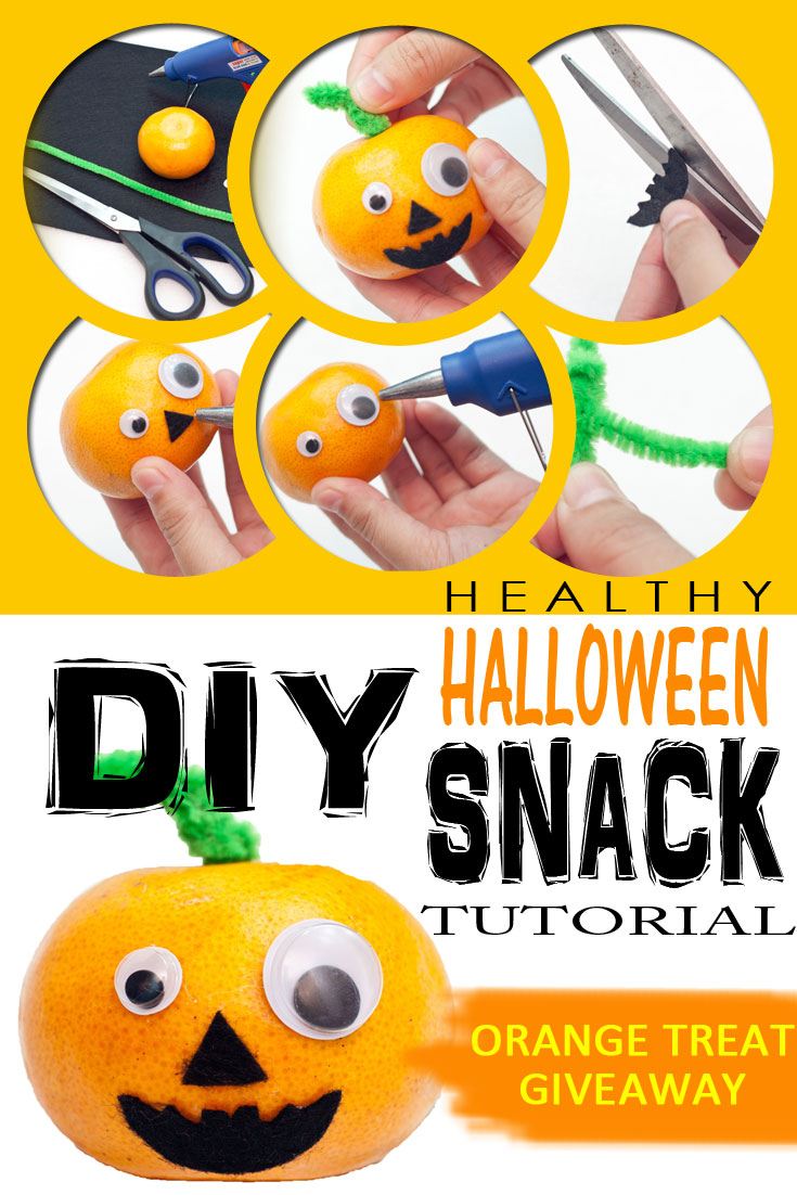 DIY Healthy Halloween Treat - Orange Fruit - Classroom, Parties, Giveaways, Trick Or Treat
