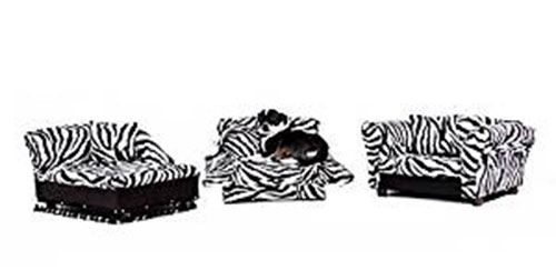 Zebra Home Decor - Zebra Print Pet Beds 3 Piece Set