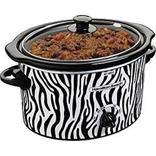 Slow Cooker In Zebra Print
