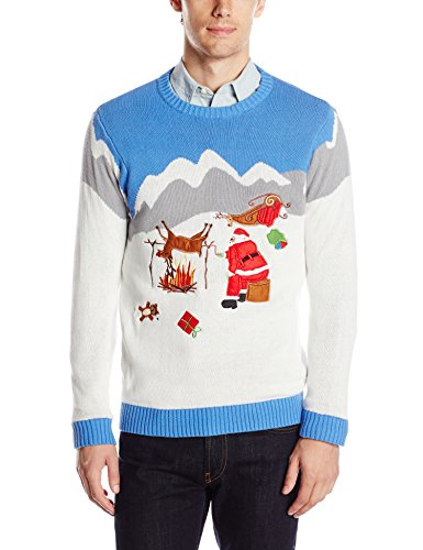 naughty ugly xmas sweaters hes very inappropriate most of the time in this category we see santa roasting his reindeer looking for his ho ho hos