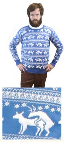 reindeer humping ugly christmas sweater in multiple colors found here - Inappropriate Christmas Sweaters