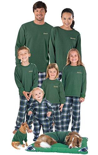 matching green flannel christmas pajamas - Plaid Christmas Pajamas