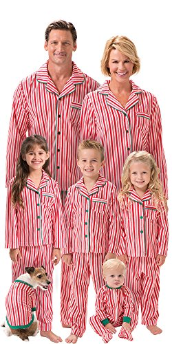 Red And White Striped Candy Cane Fleece Matching Family Pajamas Found Here 4d95ab5d9