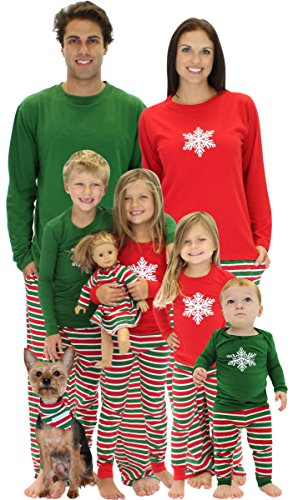 christmas stripes family matching pajamas with snowflake found here - Matching Pjs Christmas