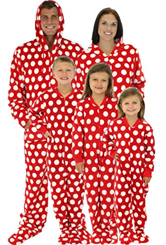 red and white polka dot christmas pjs