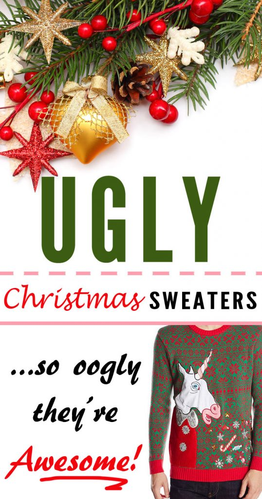 These Ugly Christmas Sweaters Are Awesome - Sooo Oogly And Perfect For An Xmas Party!