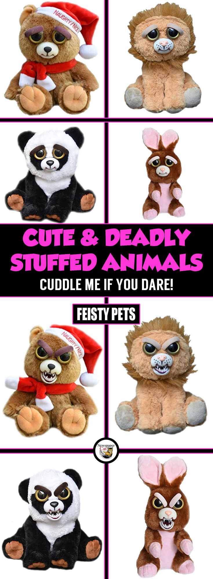 OMG! These Feisty Pets Animal Plushes Are Adorably Deadly. I Could Have Fun With These. MUAHAHA!
