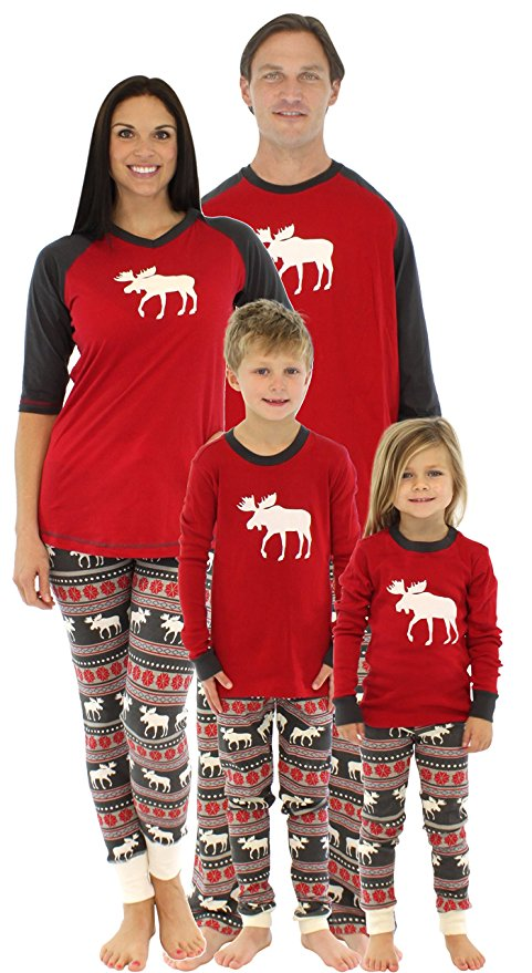 Matching Christmas Moose Pajamas