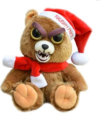Feisty Pets Christmas Santa Bear - Ebeneezer Claws Stuffed Animal