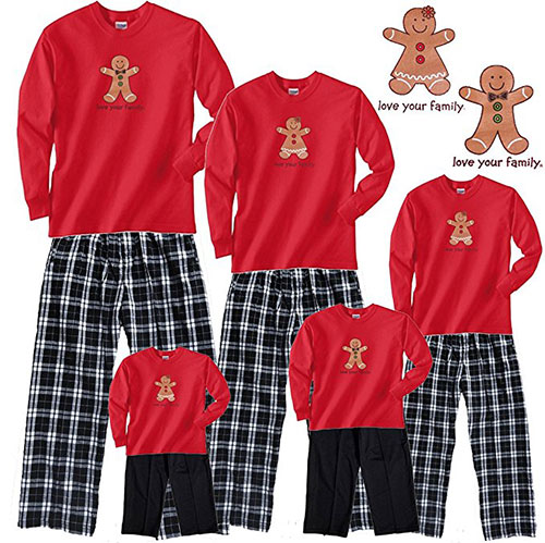 Gingerbread Christmas PJs For The Family