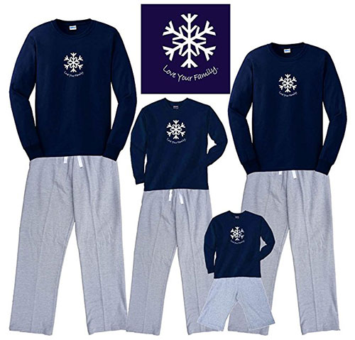 Matching Christmas Snowflake Pajamas For The Whole Family