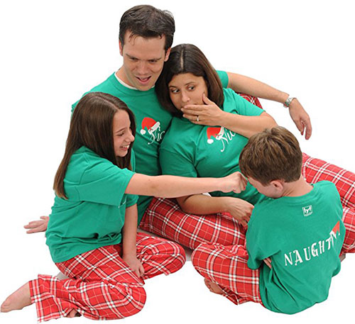 Naughty & Nice Christmas Santa Pajamas