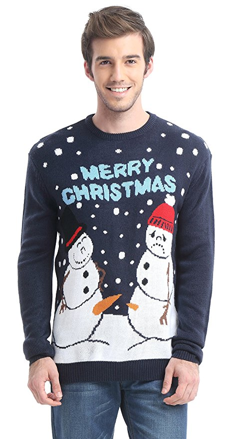 naughty ugly snowman christmas sweater