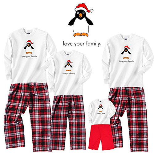 Christmas Penguin Family PJs