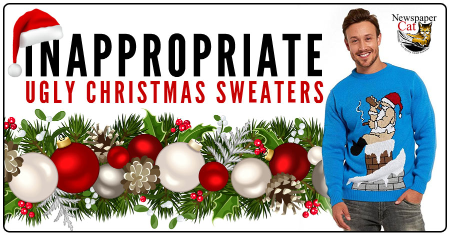 3db2e03f5a5 Naughty And Inappropriate Christmas Sweaters - Some Are Just Plain Wrong.  Naughty and inappropriate ugly ...