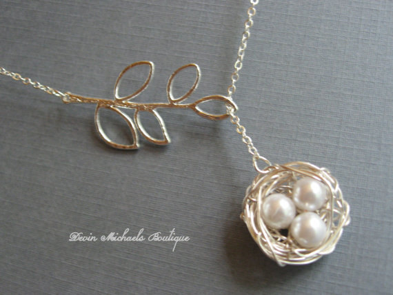 Mother's Day Bird Nest Necklace For Bird Lovers