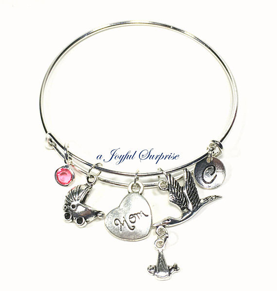 Adorable Bangle Bracelet For Expectant Mother Or Wife