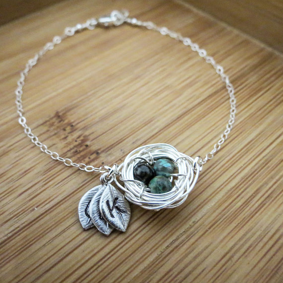 Mother's Day Bird Nest Bracelet For Mom Or Grandma