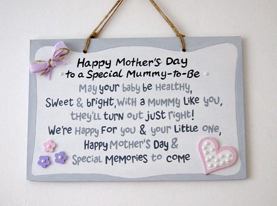 Mummy To Be Wall Plaque - Expectant Mother's Day Gift