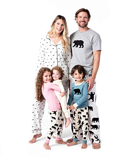 adorable matching black bear print pajamas found here - Snoopy Christmas Pajamas
