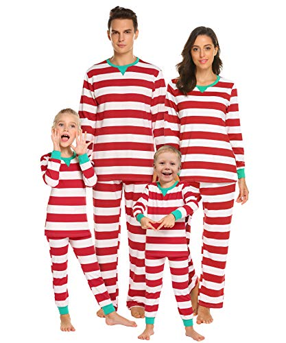 40262ec82e Red And White Striped Christmas Pajamas. Red Christmas Stripes Family  Matching ...