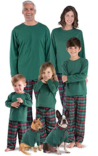 red green plaid matching family christmas pajamas found here