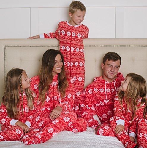 7e2790db45 Red Snowflake Pajamas. Christmas Stripes Family Matching Pajamas With  Snowflake Found Here