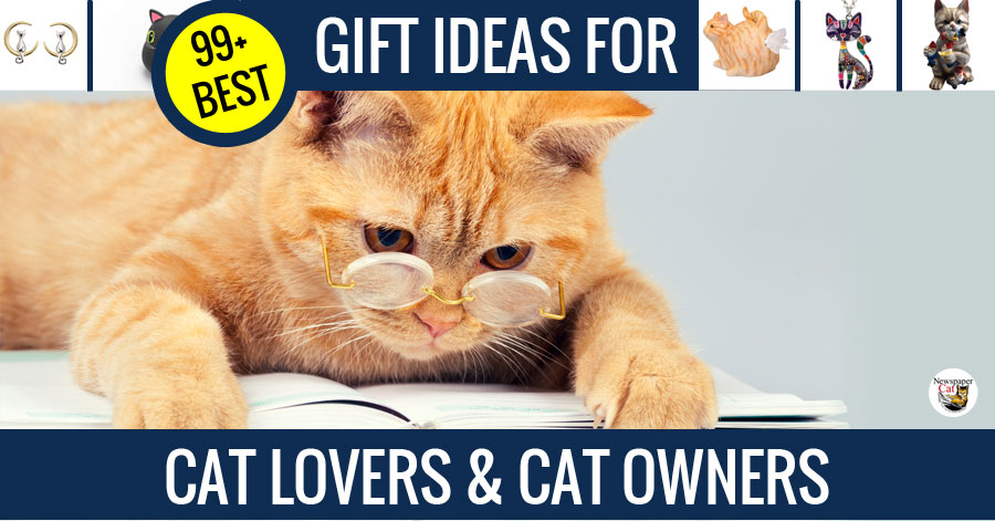 Cool cat gifts and unique gifts and gift ideas for cat lovers and cat owners.