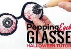 A DIY step-by-step tutorial for making Halloween popping eyeball glasses.