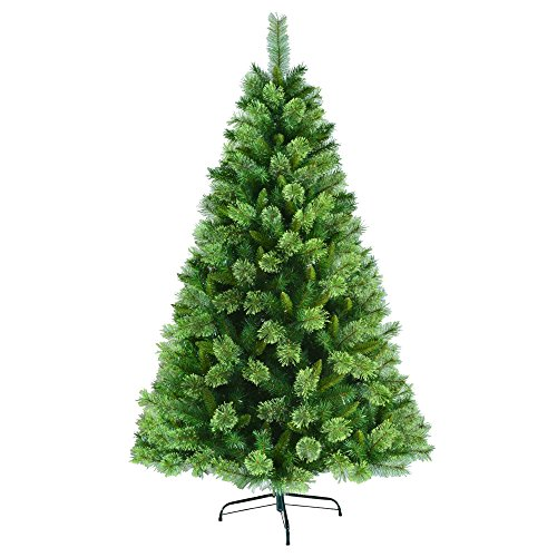 6 5 Ft Unlit Artificial Christmas Tree With Metal Base Found Here Another Very Affordable Fake That Is Easy To Set Up And Looks Great Once