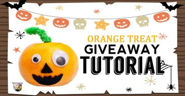 In this tutorial we show you how to make an orange treat to giveaway on Halloween.