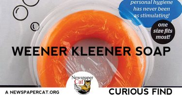 With Weener Kleener Soap, stinky crotch syndrome will become a thing of the past.