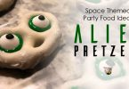 How to make space alien party food pretzels.